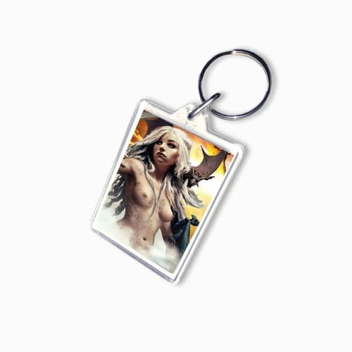 Daenerys Targaryen, Game Of Thrones Theme, Large Keyring, Pic Size 35mm X 50mm