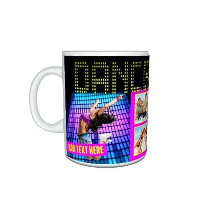 Dance Fever Persnalised Photo & Text 11oz Mug with Large Handle