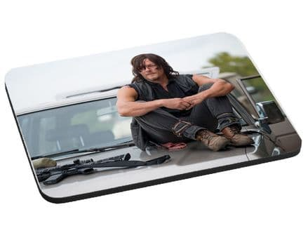 Daryl Dixon, The Walking Dead Theme Mouse Mat, Pad 220mm x 180mm, 5mm Thick