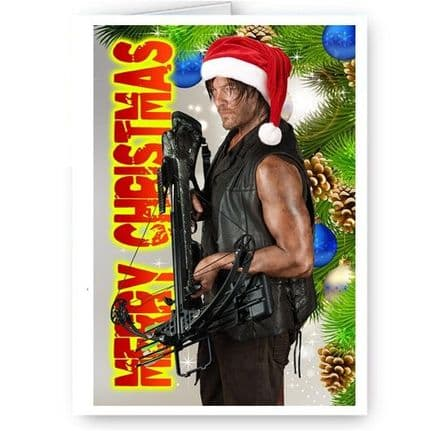 Daryl Dixon, Walking Dead, TWD, A5 Merry Christmas Card With Envelope
