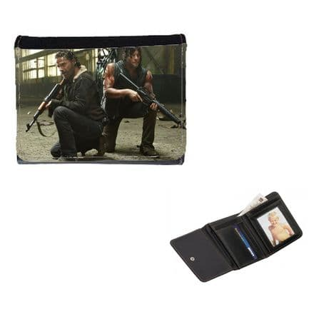 Daryl & Rick, TWD, Walking Dead Mens, Ladies, Girls Wallet or Purse 12cm x 9cm