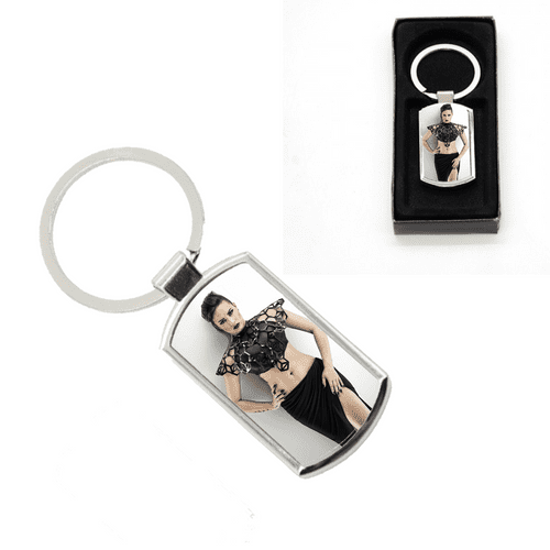 Demi Lovato Oblong Metal Keyring With Gift Box