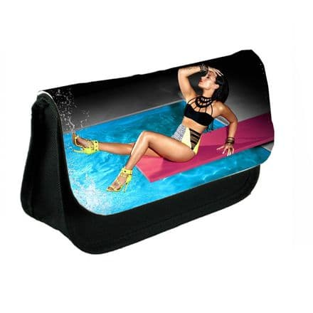 Demi Lovato Theme Design Pencil Case Or Make-Up Bag Black