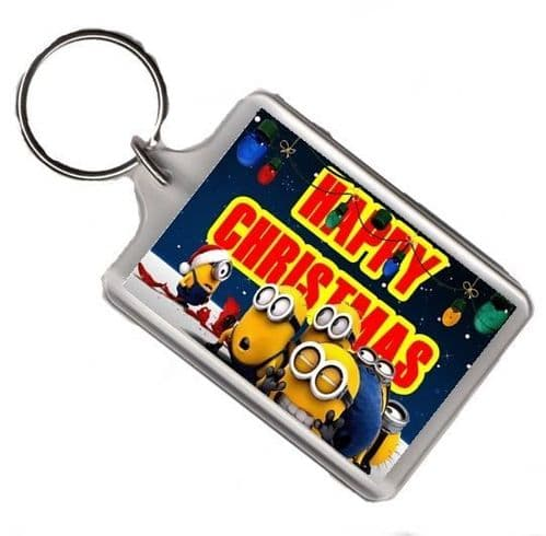 Despicable Me 2 Minions Christmas Large Keyring Gift Pic Size 35mm X 50mm