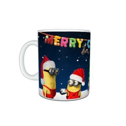 Despicable Me 2 Minions Christmas Mug, Birthday, Christmas Gift, Mug Size 11oz
