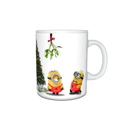 Despicable Me Minions Happy Merry Christmas Gift Mug Size 11oz