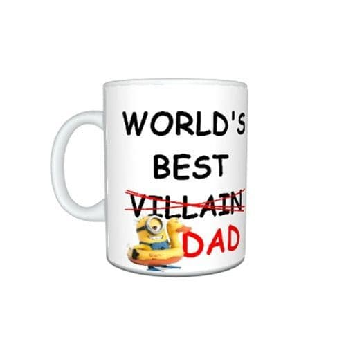 Despicable Me Minions Worlds Best Dad Gift Mug Size 11oz, Father Day