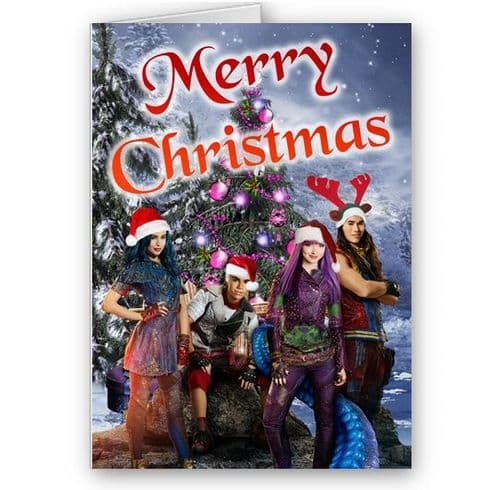 Disney Descendants 2, A5 Merry Christmas Card With Envelope