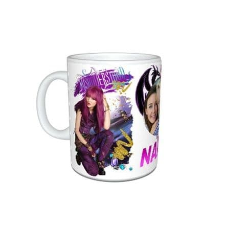 Disney Descendants 2, Personalised Photo & Name, 11oz Mug, Special Gift.