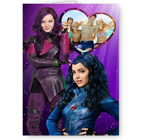 Disney Descendants Personalised Photo A5 All Occasion Card