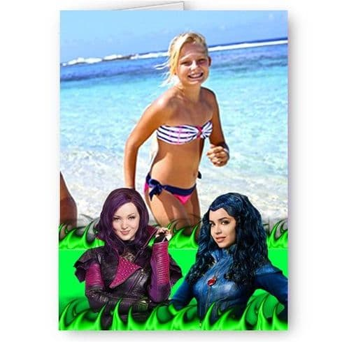 Disney Descendants, Personalised Photo A5 All Occasion Card