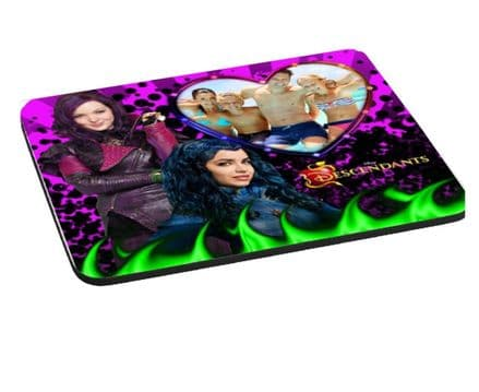 Disney Descendants Personalised Photo Added 5mm Thick, 220mm x 180mm Mouse Mat Pad