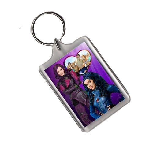 Disney Descendants Personalised Photo Large Keyring