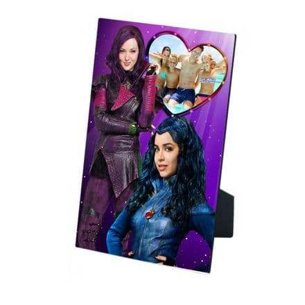 Disney Descendants Personalised Photo MDF Photo Panel 5'' x 7'' with Easel