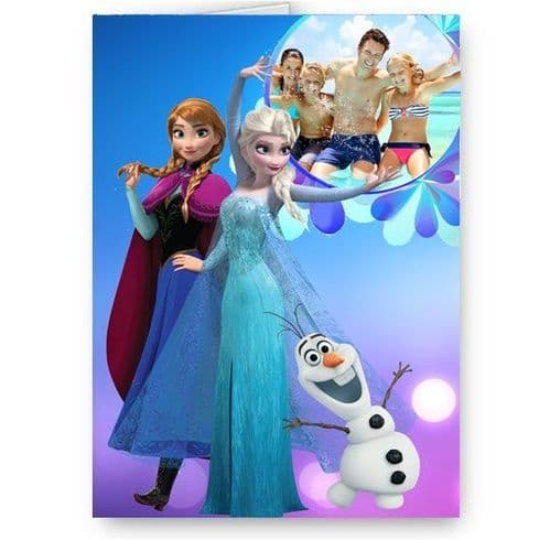 Disney Frozen Personalised Photo A5 All Occasion Card With Blue Envelope