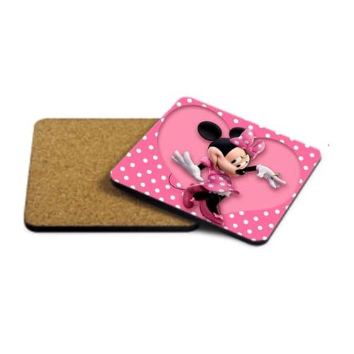 Disney Minnie Mouse MDF Strong Coaster 9cm X 9cm