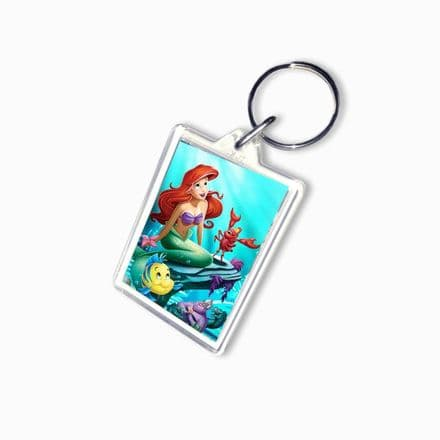 Disney Princess Ariel, Large Keyring, Pic Size 35mm X 50mm