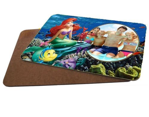 Disney Princess Ariel Personalised Photo MDF Strong Placemat 20cm x 28cm