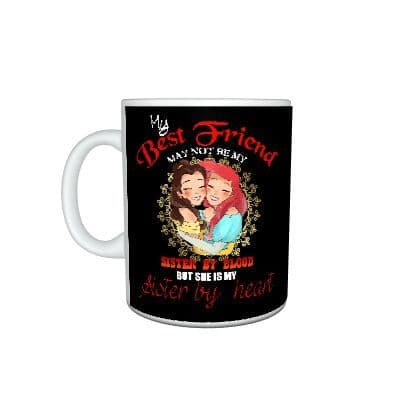 Disney Princess Belle and Ariel, Sisters 11oz Large Handle Mug