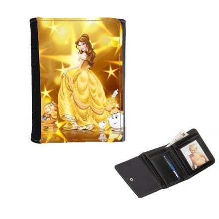 Disney Princess Belle, Mens, Ladies, Girls Wallet or Purse 12cm x 9cm