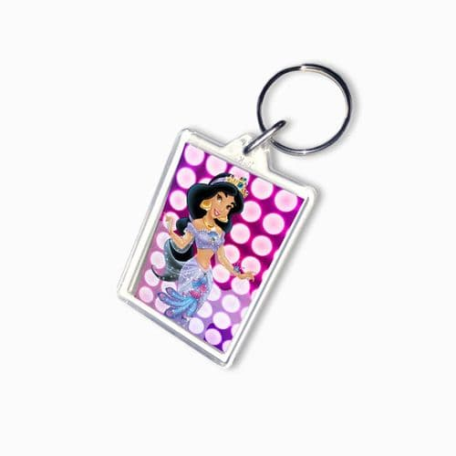 Disney Princess Jasmine, Large Keyring, Gift Pic Size 35mm X 50mm