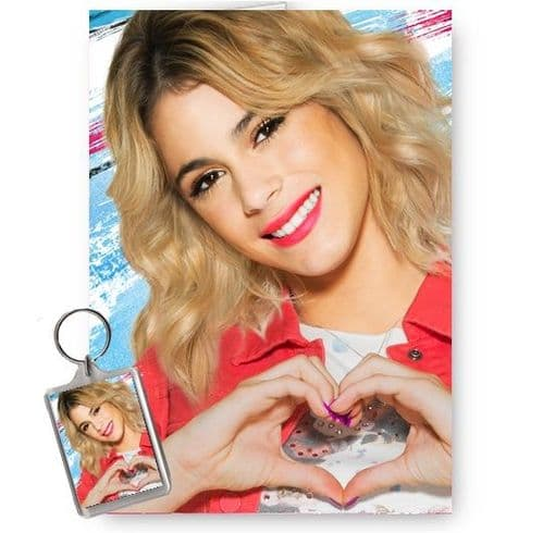 Disney Violetta A5 Happy Birthday, Christmas, All Occasions Card With Free Keyring