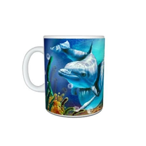 Dolphins Mug, Birthday, Christmas, Special Gift, Size 11oz.