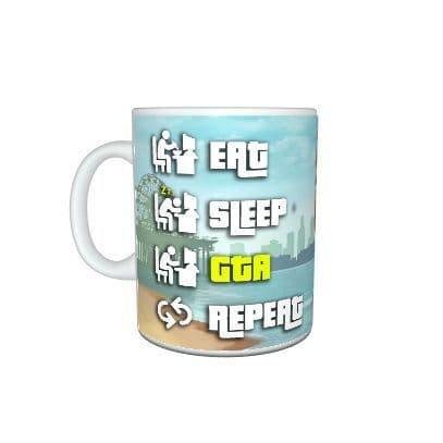 Eat, Sleep, GTA, Repeat, Grand Theft Auto, Gamer 11oz Mug