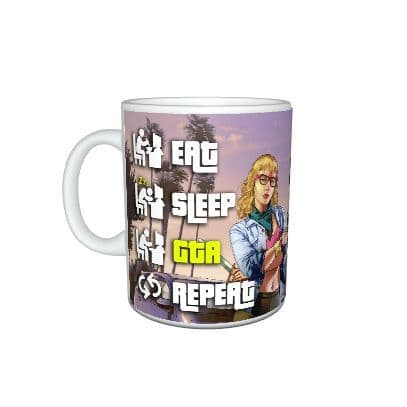 Eat, Sleep, GTA, Repeat, Grand Theft Auto, Gamer, 11oz Mug