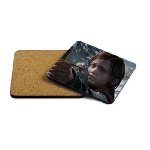 Ellie, The Last Of Us, MDF Strong Coaster 9cm X 9cm