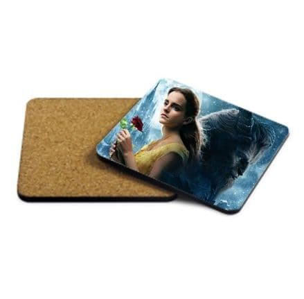 Emma Watson, Beauty and the Beast MDF Strong Coaster 9cm X 9cm
