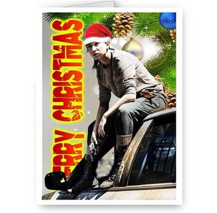 Enid, Walking Dead, TWD, Katelyn Nacon, A5 Merry Christmas Card With Envelope