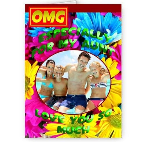 Especially For My Aunt Personlaised Photo Added A5 All Occasion Card