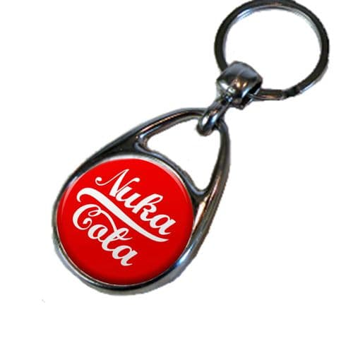 Fallout Nuka and Quantum Cola Double Sided Round Metal Keyring