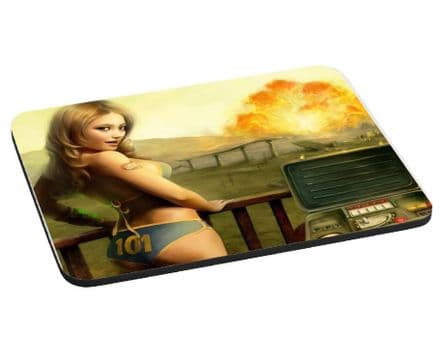 Fallout Nuka Blast Theme Mouse Mat, Pad 220mm x 180mm, 5mm Thick