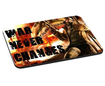 Fallout War Never Changes Theme 220mm x 180mm, 5mm Thick Mouse Mat, Pad