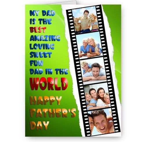Father's Day A5 Personalised Photo World's Best Dad Card