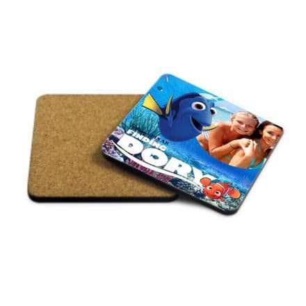 Finding Dory, Nemo, Personalised Photo Added MDF Strong Coaster 9cm X 9cm