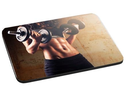 Fitness, Six Pack Stomach Theme, Mouse Mat, Pad