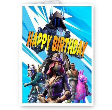 Fortnite A5 Happy Birthday Card, Ice King, New & Sealed