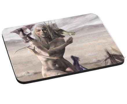 Game Of Thrones Daenerys Targaryen Mouse Mat, Pad 220mm x 180mm, 5mm Thick