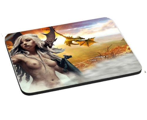 Game Of Thrones, Daenerys Targaryen, Mouse Mat, Pad 220mm x 180mm, 5mm Thick