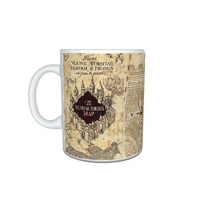 Harry Potter Marauder's Map & Daily Prophet Front Page, 11oz Mug