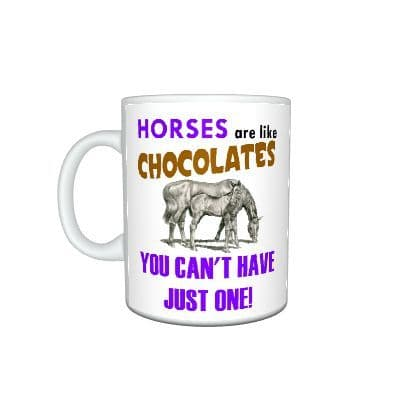 Horses Are Like Chocolates Novelty Theme 11oz Large Handle Mug