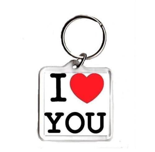 I Love You Square Keyring, Valentine's, Anniversary or Birthday's Gift