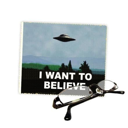 I Want To Believe Reading Glasses Lens Cleaning Cloth 18cm X 15cm