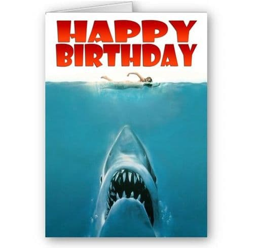 Jaws A5 Happy Birthday Card With Envelope