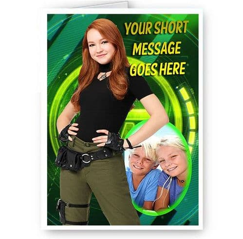 Kim Possible 2019 A5 Personalsied All Occasions Card, New & Sealed