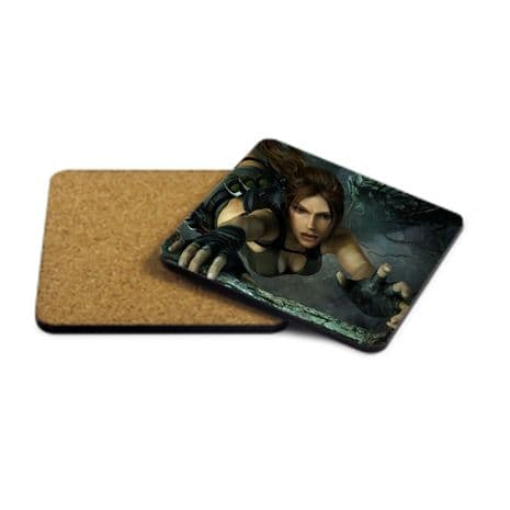 Lara Croft MDF Strong Coaster 9cm X 9cm