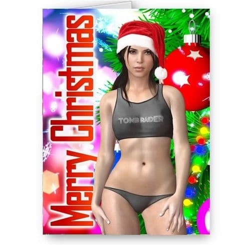 Lara Croft, Shadow Of The Tomb Raider, A5, Merry Christmas Card With Envelope